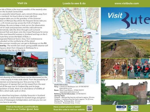 Visit Bute DL Trifold leaflet